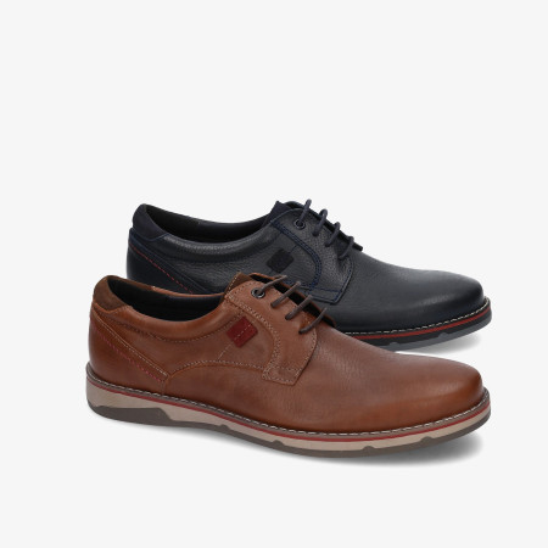 Zapatos casual Traveris en cuero