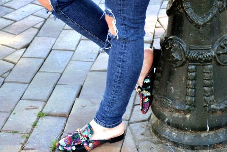 mules multicolor La Strada