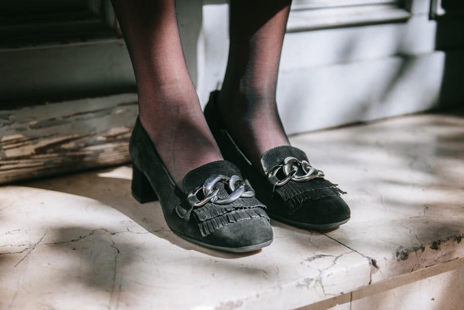 Granny shoes ante negro Kissia