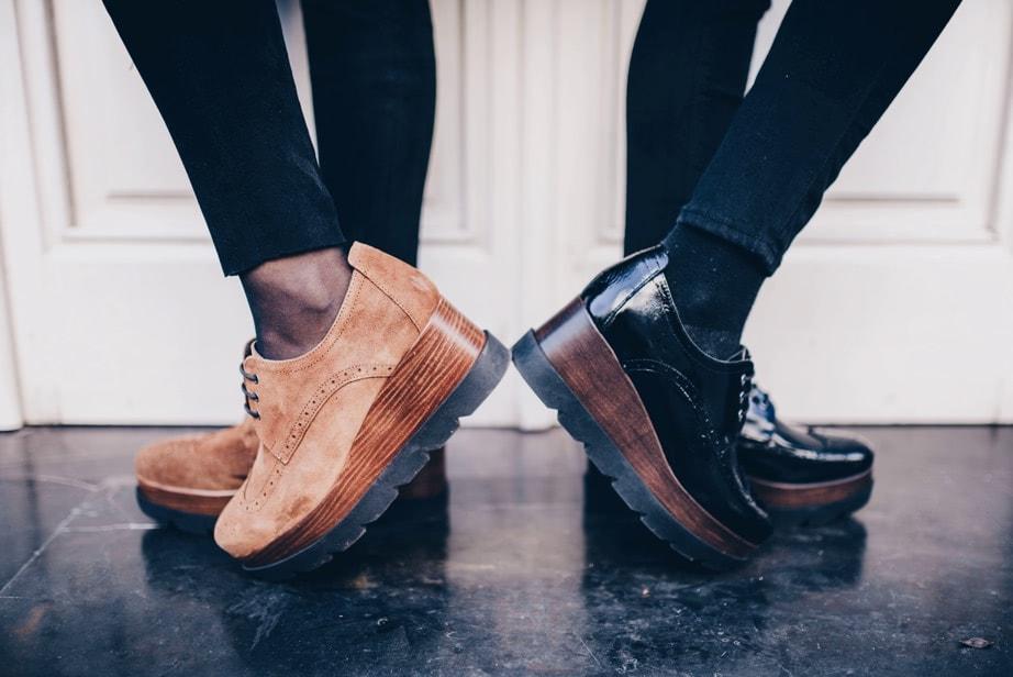 Zapato serraje cuero pabloochoashoes y zapato charol negro pabloochoashoes