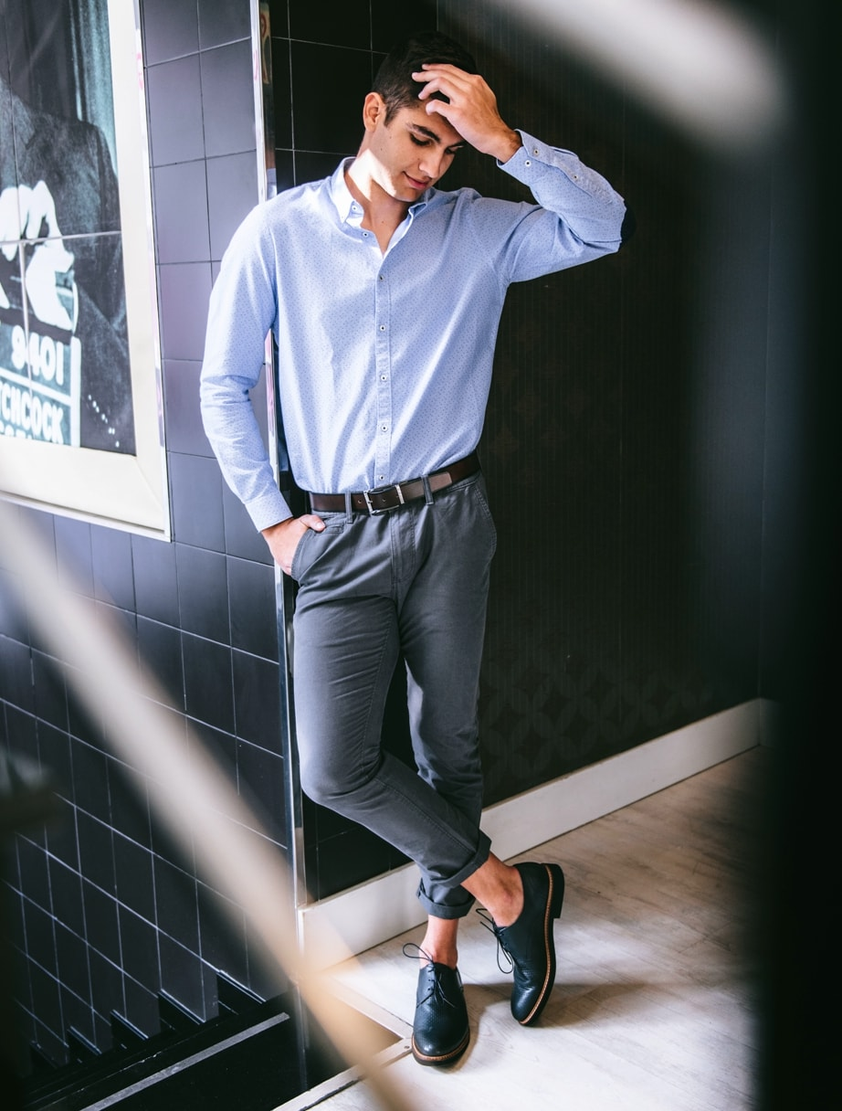 Zapatos de vestir hombre azul marino de Kennebec