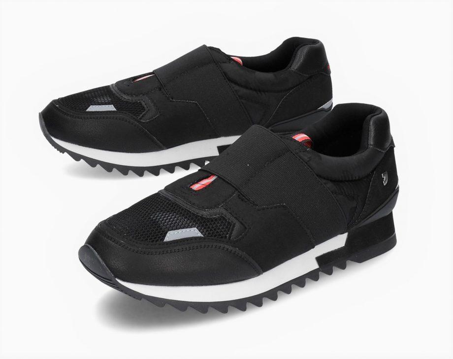 Sneaker hombre negra con elástico de Gioseppo