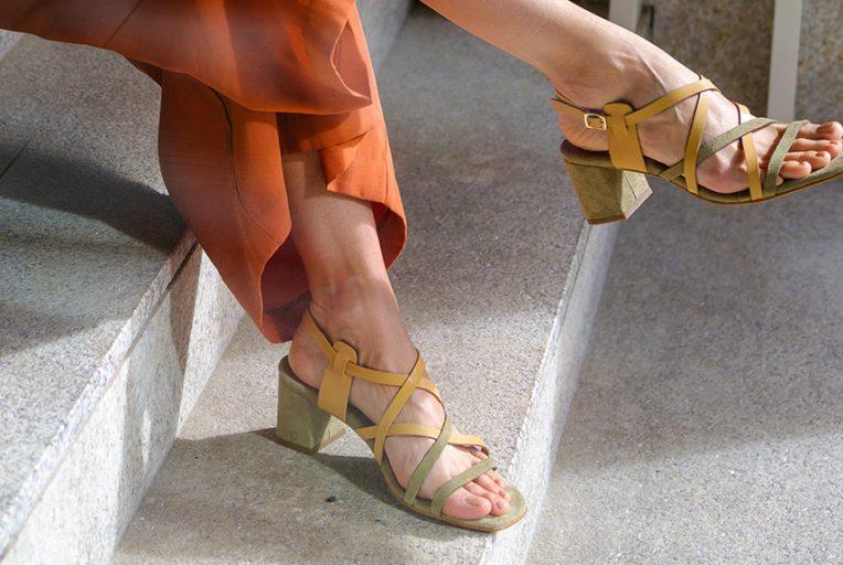 zapatos de tacon en color verde